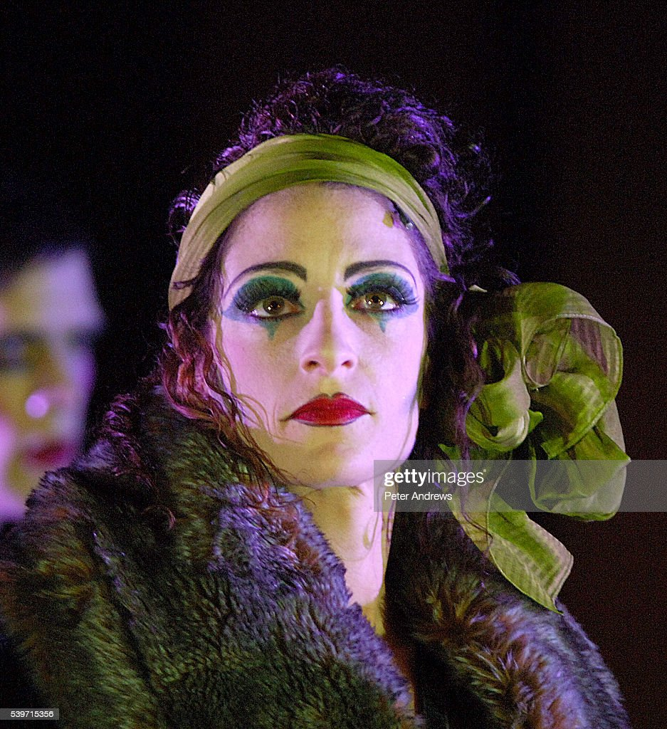 Rebecca Sutherland performs in a dress rehersal of 'Cabaret' at the Lyric Theatre Shaftsbury Avenue