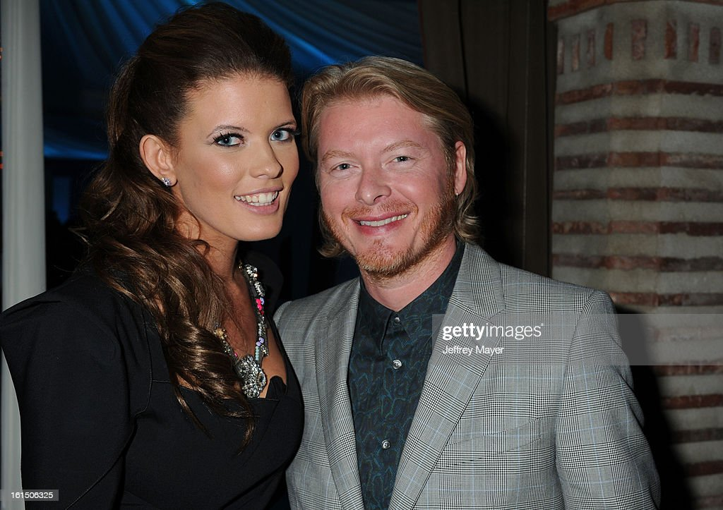 Rebecca Sweet and Phillip Sweet attend the Universal Music Group Chairman & CEO Lucian Grainge's annual Grammy Awards viewing party on February 10, 2013 in Brentwood, California.
