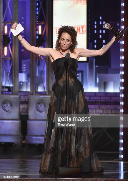 "Rebecca Taichman accepts the award for Best Direction of a Play for ""Indecent"" onstage during the 2017 Tony Awards at Radio City Music Hall on June..."