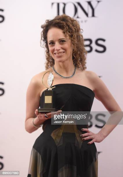 Rebecca Taichman winner of the award for Best Direction of a Play for 'Indecent' poses in the press room during the 2017 Tony Awards at 3 West Club...
