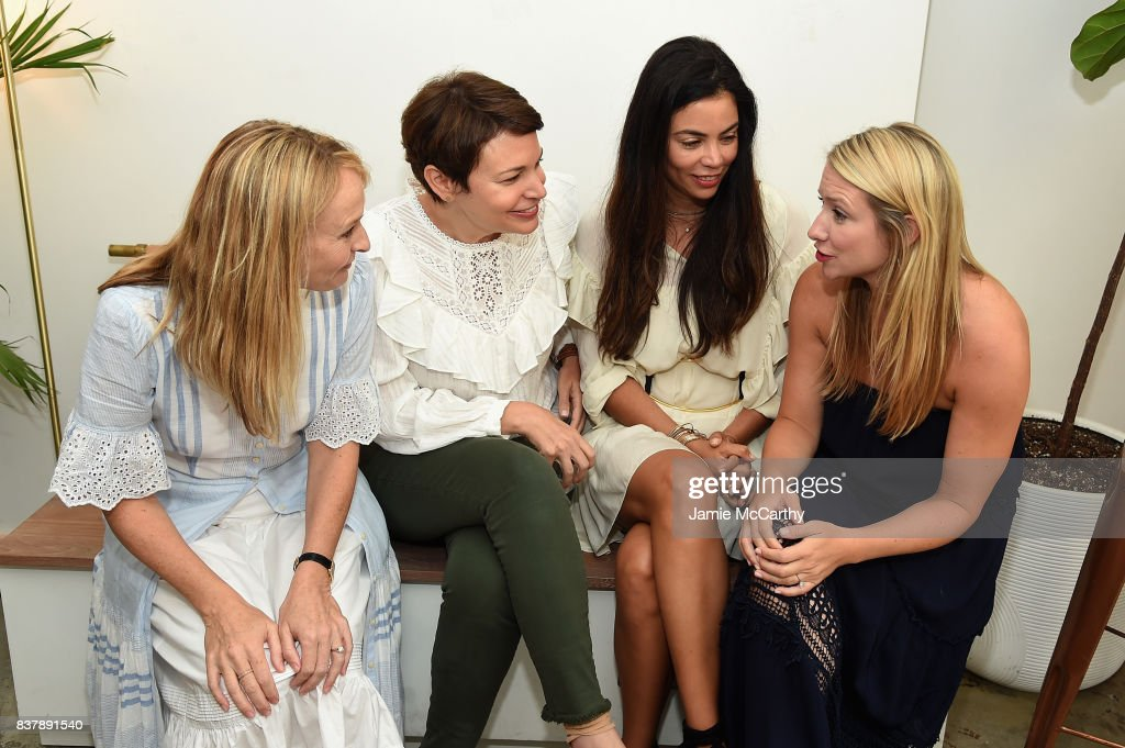 Rebecca Taylor, Mariela Rovito, Ali Mejia and Johanna Lanus attend the Eberjey x Rebecca Taylor Launch Event at Chillhouse on August 23, 2017 in New York City.