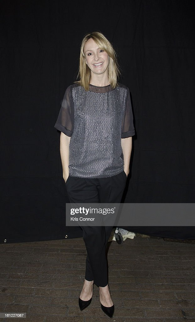 <a gi-track='captionPersonalityLinkClicked' href=/galleries/search?phrase=Rebecca+Taylor+-+Fashion+Designer&family=editorial&specificpeople=4496766 ng-click='$event.stopPropagation()'>Rebecca Taylor</a> poses for a photo during the <a gi-track='captionPersonalityLinkClicked' href=/galleries/search?phrase=Rebecca+Taylor+-+Fashion+Designer&family=editorial&specificpeople=4496766 ng-click='$event.stopPropagation()'>Rebecca Taylor</a> Fall 2013 show during Mercedes-Benz Fashion Week at Highline Stages on February 9, 2013 in New York City.