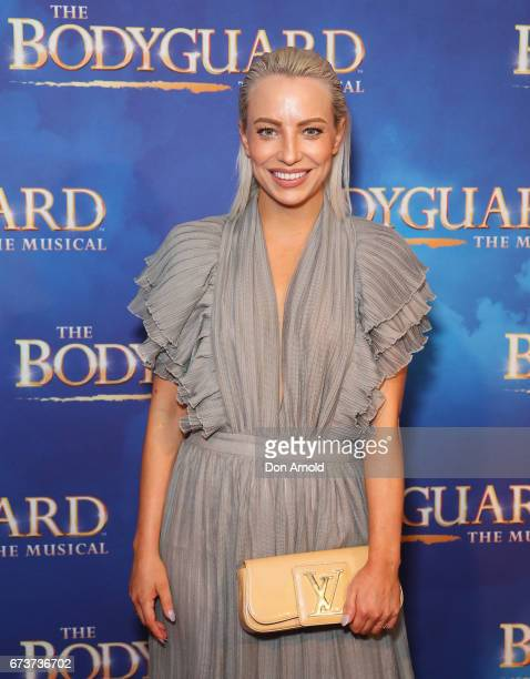 Rebecca Townsend arrives ahead of opening night of The Bodyguard The Musical at Lyric Theatre Star City on April 27 2017 in Sydney Australia