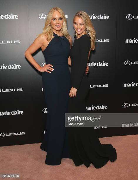 Rebecca Valance and Anna Heinrich arrive ahead of the 2017 Prix de Marie Claire Awards on August 15 2017 in Sydney Australia