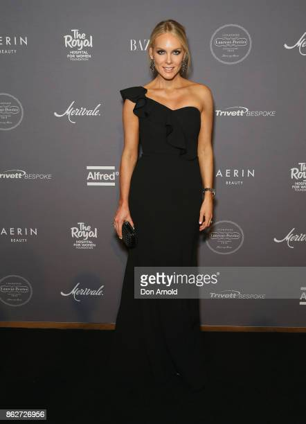 Rebecca Valance arrives ahead of BAZAAR in Bloom at The Ivy on October 18 2017 in Sydney Australia