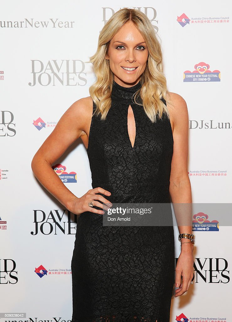 Rebecca Valance arrives ahead of the Lunar New Year Designer Collection Launch Party at David Jones Elizabeth Street Store on February 10, 2016 in Sydney, Australia.