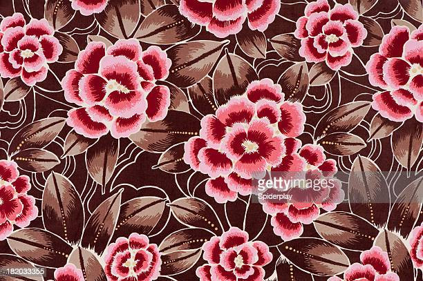 Rebeccas Rose Antikes Blumenmuster-Nahaufnahme