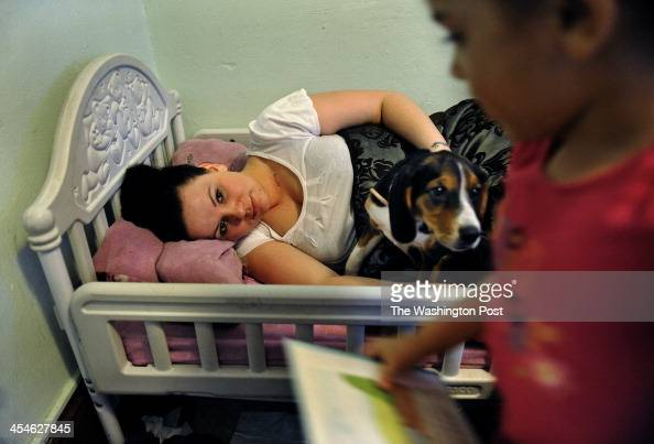 Rebecka Ortiz hoped to take a quick nap while her husband was still at home but her 3 yearold daughter Sariah wanted her to read a book Many families...