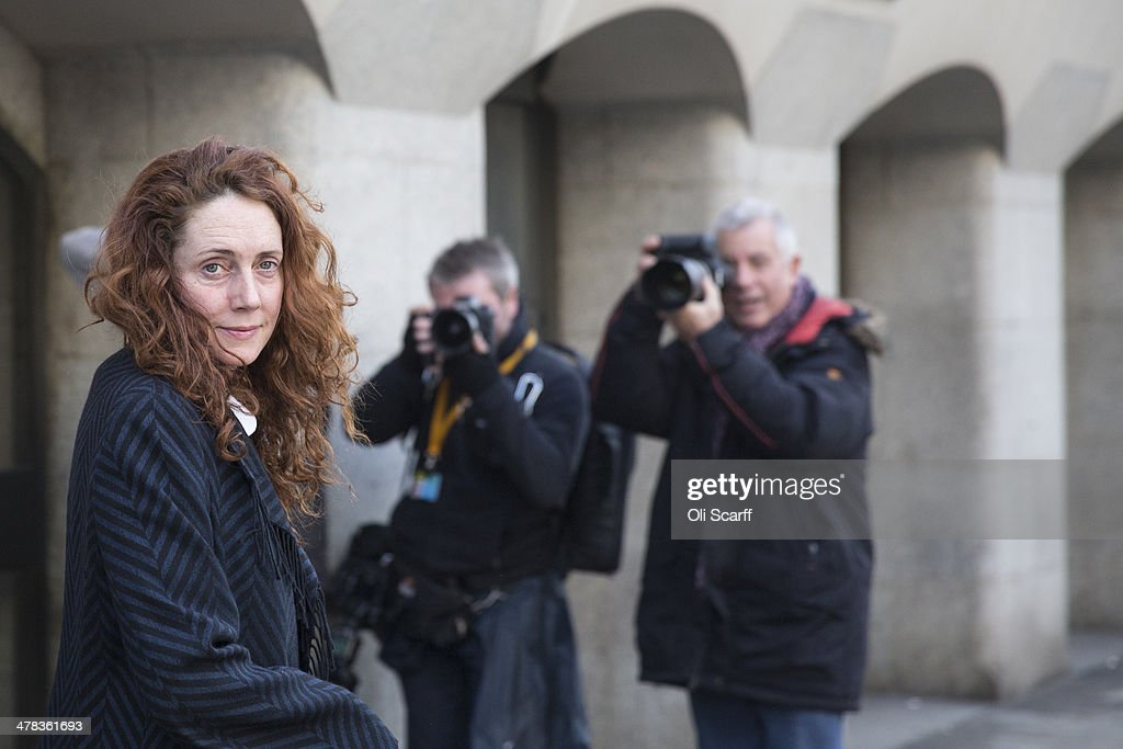 <a gi-track='captionPersonalityLinkClicked' href=/galleries/search?phrase=Rebekah+Brooks&family=editorial&specificpeople=6848116 ng-click='$event.stopPropagation()'>Rebekah Brooks</a> arrives at the Old Bailey on March 13, 2014 in London, England. Former government director of communications and News Of The World editor Andy Coulson and former News International chief executive <a gi-track='captionPersonalityLinkClicked' href=/galleries/search?phrase=Rebekah+Brooks&family=editorial&specificpeople=6848116 ng-click='$event.stopPropagation()'>Rebekah Brooks</a>, along with six others, face a series of charges linked to the phone hacking of celebrities and others at the now-defunct newspaper.