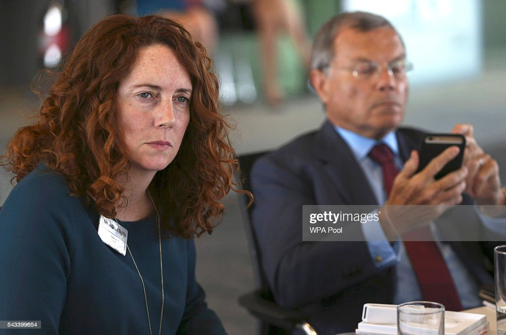 <a gi-track='captionPersonalityLinkClicked' href=/galleries/search?phrase=Rebekah+Brooks&family=editorial&specificpeople=6848116 ng-click='$event.stopPropagation()'>Rebekah Brooks</a>, CEO of News UK and Martin Sorrell, Chairman and Chief Executive Officer of WPP attend The Times CEO summit on June 28, 2016 in London, England.