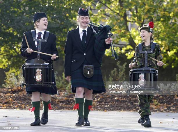 Rebekah Locherty from the Cadets with Angus and Dundee regiment Donna Allan from the Black Watch and Lora Harwood also with Angus and Dundee regiment...