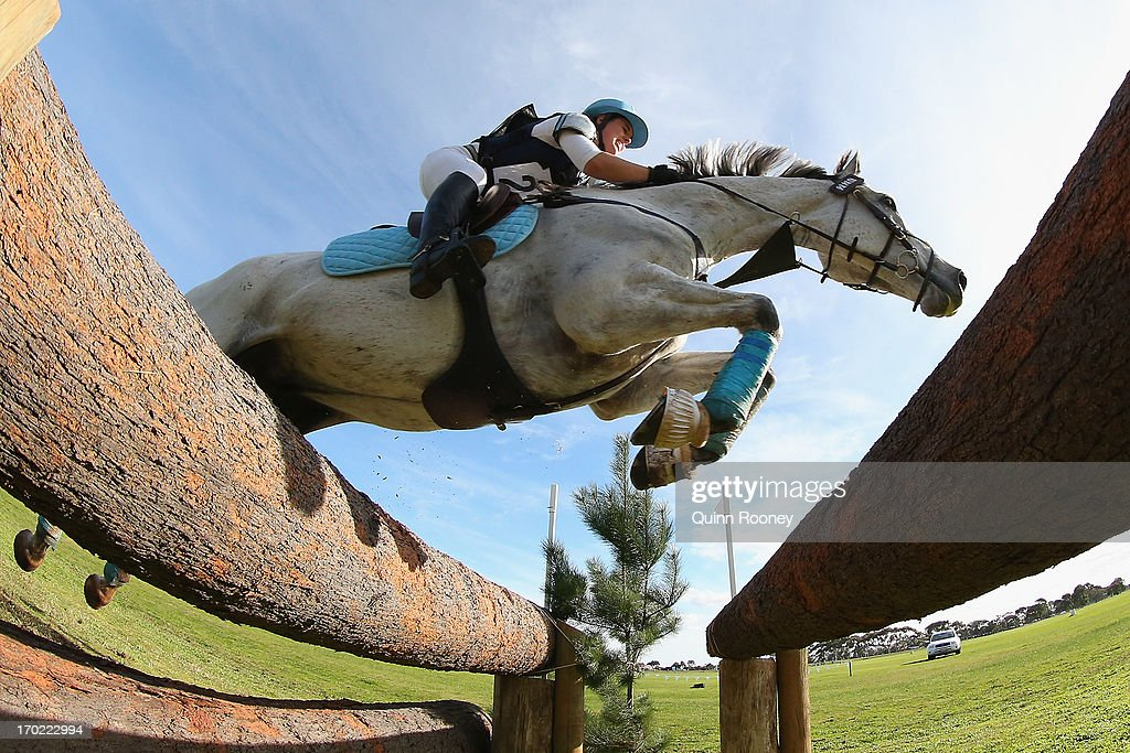 Rebekah McDougall of Australia riding ESB Irish Patience competes in the Cross Country during the Melbourne International Three Day Event at Werribee...