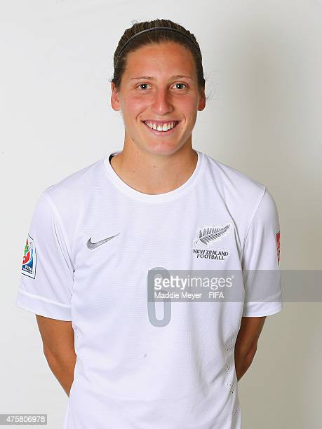 Rebekah Stott of New Zealand during the FIFA Women's World Cup 2015 portrait session at the Delta Edmonton South on June 3 2015 in Edmonton Canada