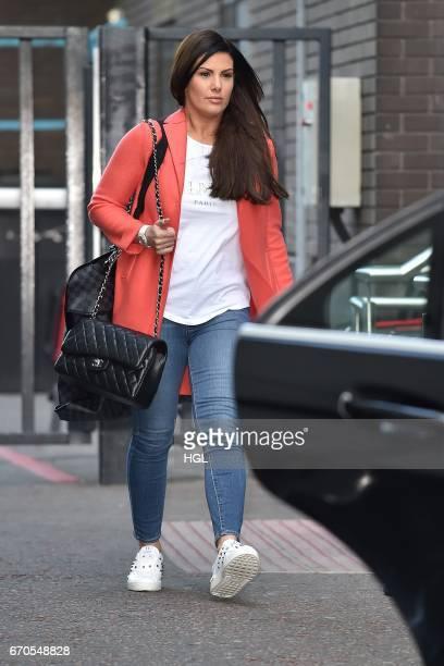 Rebekah Vardy seen at the ITV Studios on April 20 2017 in London England
