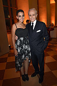 Rebekka Ackermann and Jose Carreras during the 'Jose Carreras Foundation Celebrates Its 20th Anniversary' at Kaisersaal on September 16 2015 in...