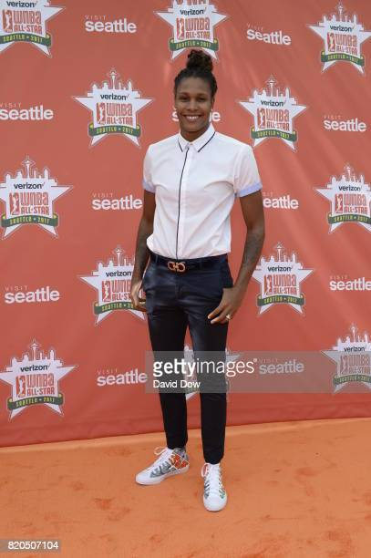 Rebekkah Brunson of the Minnesota Lynx poses for a photo during the WNBA AllStar Welcome Reception Presented by Visit Seattle as part of the 2017...