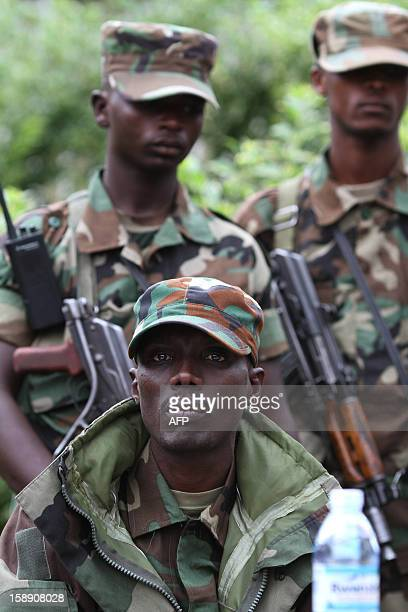 M23 rebel Commander Brigadier General Sultani Makenga gives a press conference at Bunagana on January 3 2013 The M23 rebel group wants the Kinshasa...