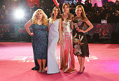 Rebel Wilson Alison Brie Dakota Johnson and Leslie Mann attend the UK Premiere of 'How To Be Single' at Vue West End on February 9 2016 in London...