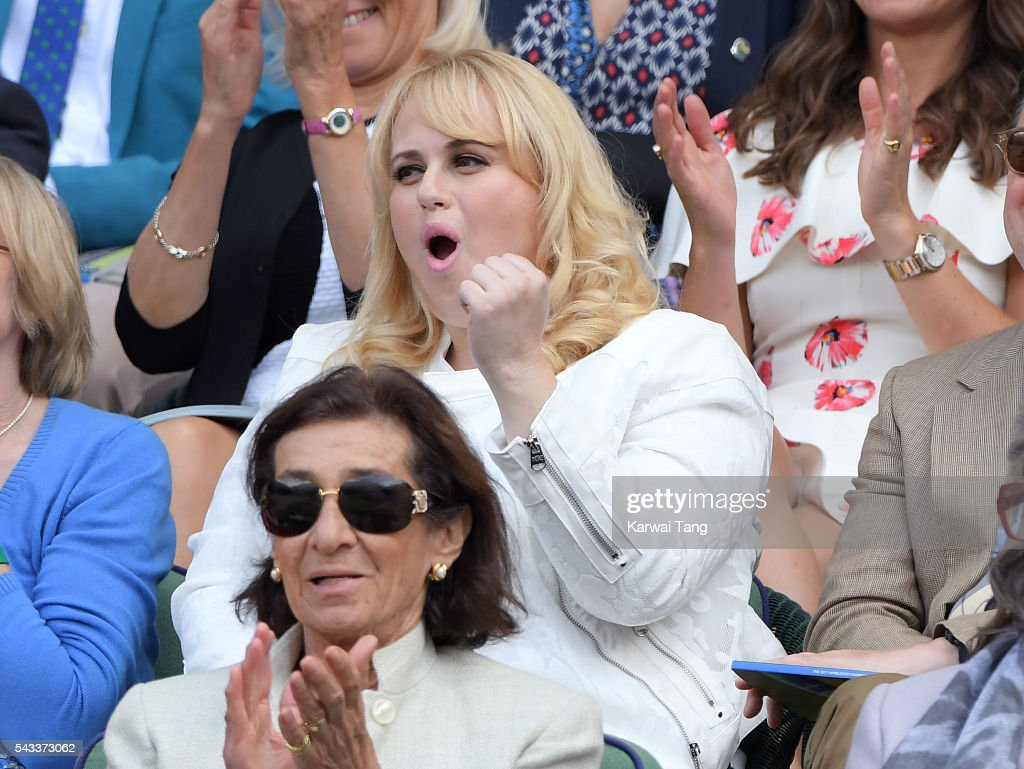 <a gi-track='captionPersonalityLinkClicked' href=/galleries/search?phrase=Rebel+Wilson&family=editorial&specificpeople=5563104 ng-click='$event.stopPropagation()'>Rebel Wilson</a> attends day one of the Wimbledon Tennis Championships at Wimbledon on June 27, 2016 in London, England.