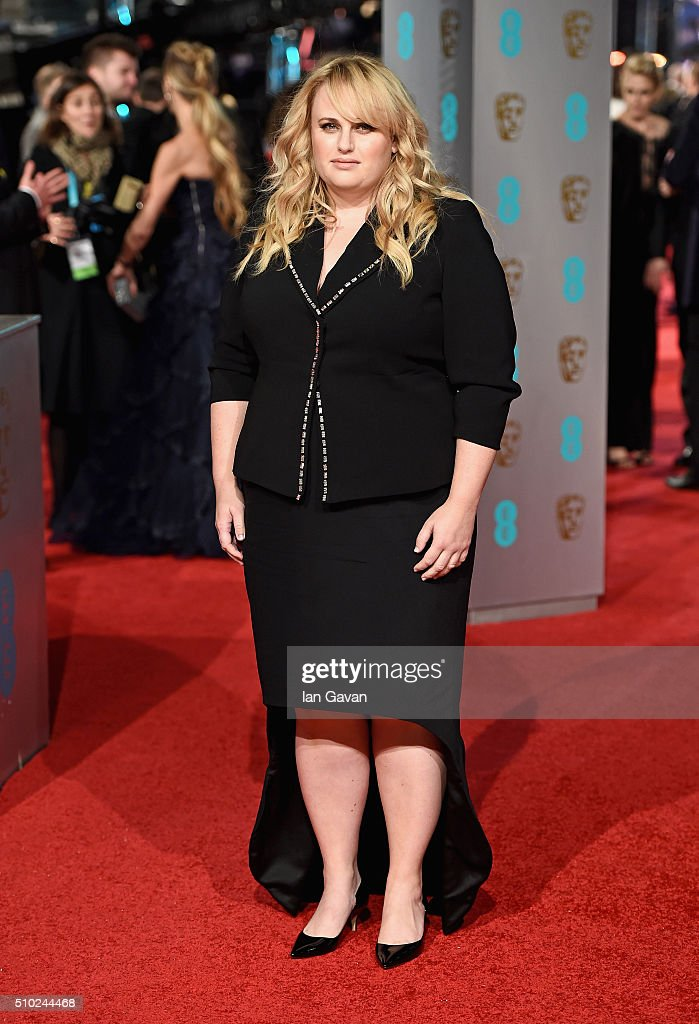Rebel Wilson attends the EE British Academy Film Awards at the Royal Opera House on February 14 2016 in London England