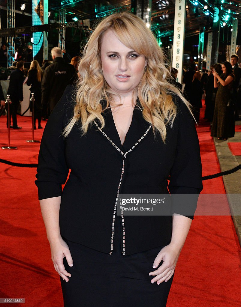 <a gi-track='captionPersonalityLinkClicked' href=/galleries/search?phrase=Rebel+Wilson&family=editorial&specificpeople=5563104 ng-click='$event.stopPropagation()'>Rebel Wilson</a> attends the EE British Academy Film Awards at The Royal Opera House on February 14, 2016 in London, England.