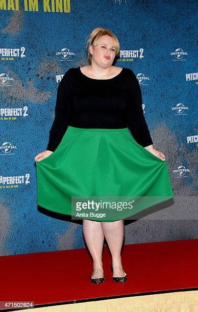 Rebel Wilson attends the 'Pitch Perfect 2' photocall at Ritz Carlton on April 29 2015 in Berlin Germany