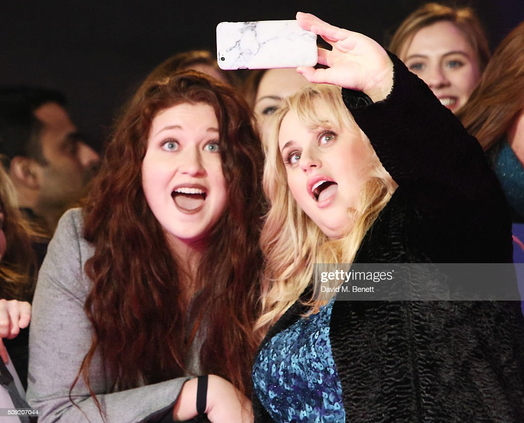 <a gi-track='captionPersonalityLinkClicked' href=/galleries/search?phrase=Rebel+Wilson&family=editorial&specificpeople=5563104 ng-click='$event.stopPropagation()'>Rebel Wilson</a> (R) attends the UK Premiere of 'How To Be Single' at Vue West End on February 9, 2016 in London, England.