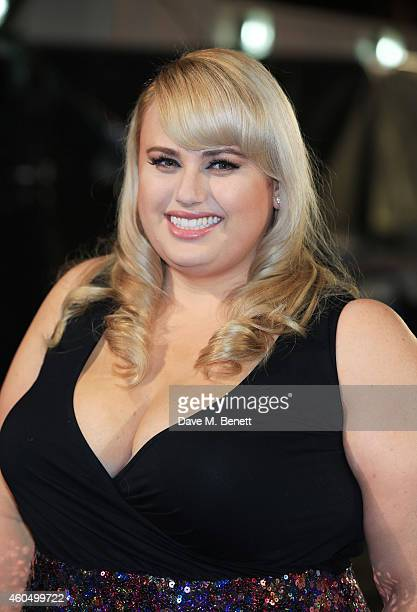 Rebel Wilson attends the UK Premiere of 'Night At The Museum Secret Of The Tomb' at Empire Leicester Square on December 15 2014 in London England