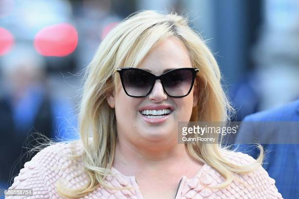 Rebel Wilson leaves the Supreme Court on May 22 2017 in Melbourne Australia Rebel Wilson is suing Bauer Media the publisher of Woman's Day over a...