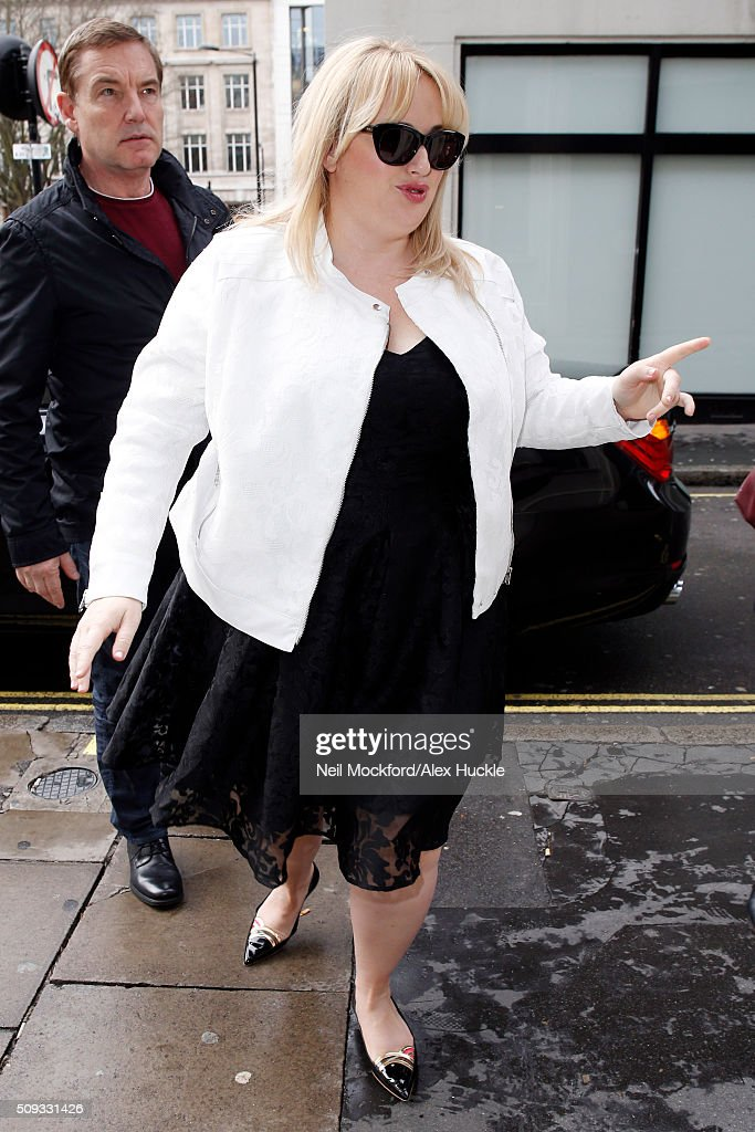 <a gi-track='captionPersonalityLinkClicked' href=/galleries/search?phrase=Rebel+Wilson&family=editorial&specificpeople=5563104 ng-click='$event.stopPropagation()'>Rebel Wilson</a> seen arriving at the KISS FM Radio Studios on February 10, 2016 in London, England.