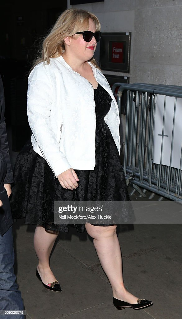 <a gi-track='captionPersonalityLinkClicked' href=/galleries/search?phrase=Rebel+Wilson&family=editorial&specificpeople=5563104 ng-click='$event.stopPropagation()'>Rebel Wilson</a> seen at BBC Radio One on February 10, 2016 in London, England.