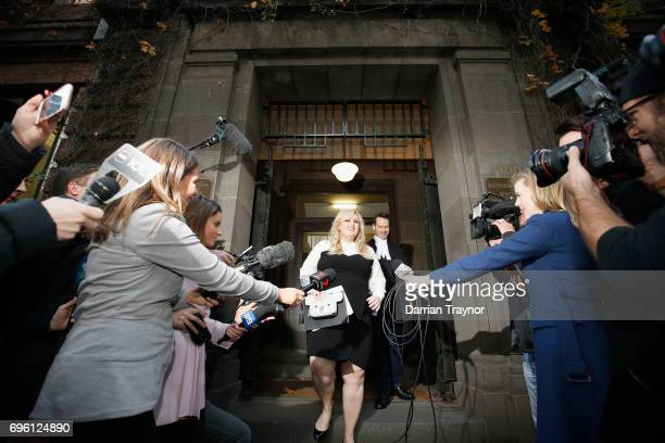 Rebel Wilson speaks to the media on June 15 2017 in Melbourne Australia After a three week trial a jury of six has returned unanimous verdicts in...