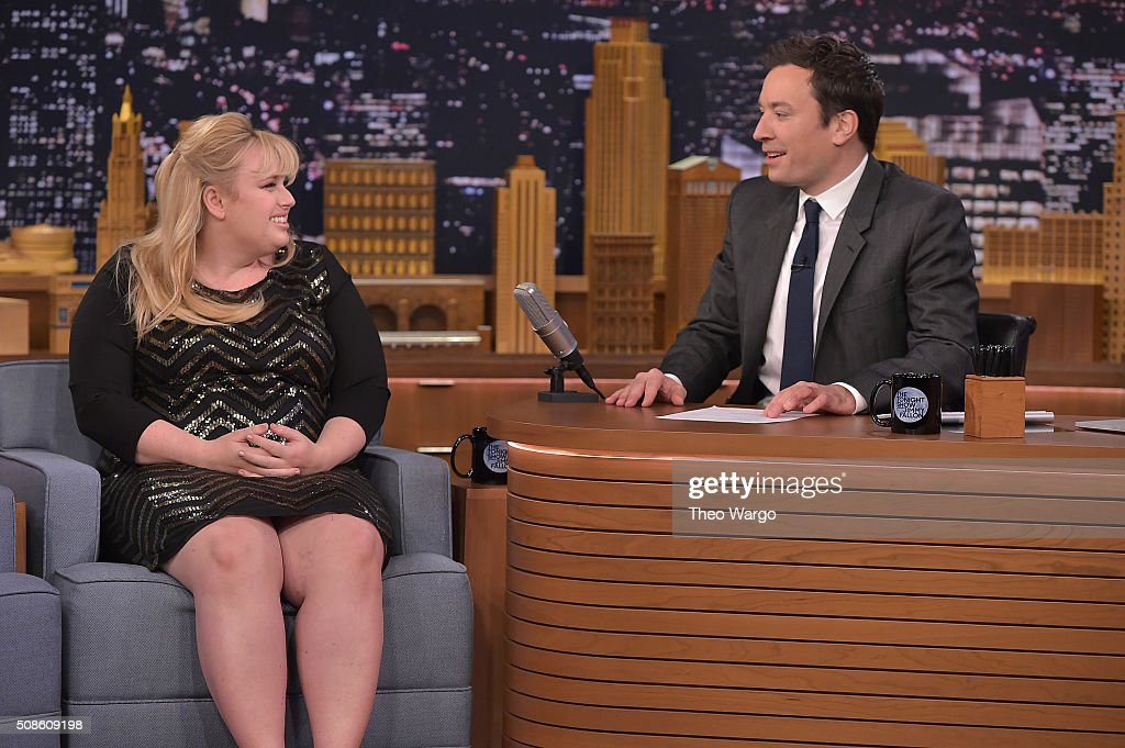 <a gi-track='captionPersonalityLinkClicked' href=/galleries/search?phrase=Rebel+Wilson&family=editorial&specificpeople=5563104 ng-click='$event.stopPropagation()'>Rebel Wilson</a> Visits 'The Tonight Show Starring Jimmy Fallon' on February 5, 2016 in New York City.