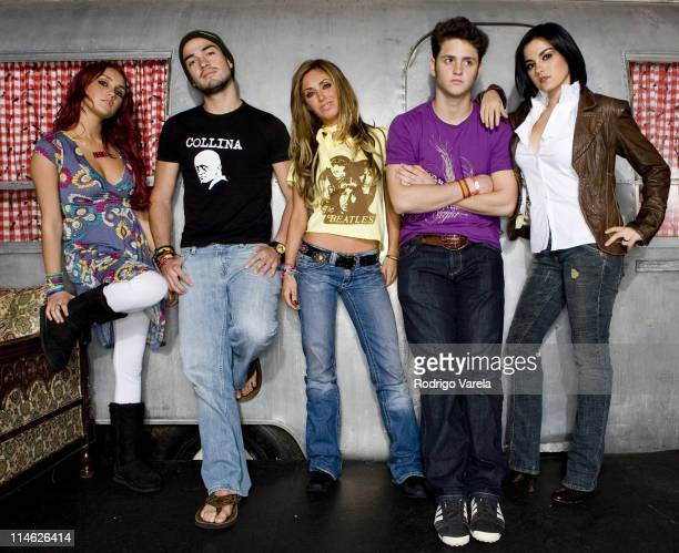 RBD Rebelde during RBD Rebelde Portrait Session at Pawn Shop in Miami Florida United States
