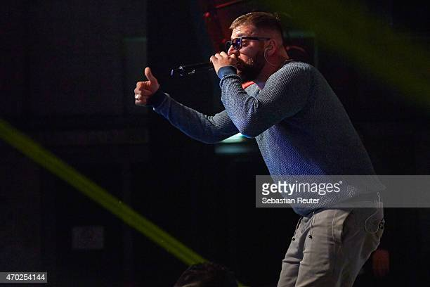 KC Rebell performs at Postbahnhof on April 18 2015 in Berlin Germany