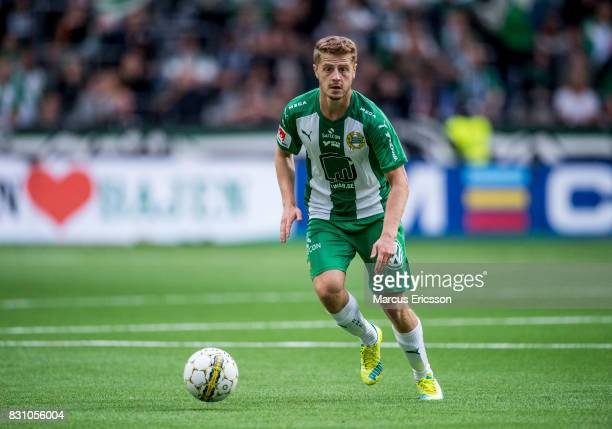 Rebin Asaad of Hammarby IF during the Allsvenskan match between Hammarby IF and Ostersunds FK at Tele2 Arena on August 14 2017 in Stockholm Sweden