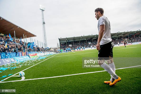 rebro SK Astrit Ajdarevic during the Allsvenskan match between Orebro SK and Djurgardens IF at Behrn Arena on April 3 2016 in Orebro Sweden