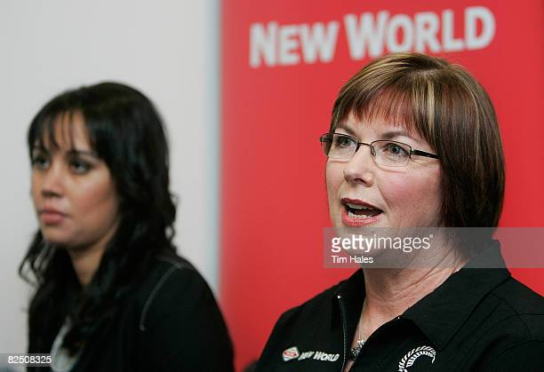 Recalled Silver Fern Daneka Wipiiti and Silver Ferns head coach Ruth Aitken attend the New Zealand Silver Ferns team announcement at the Netball New...