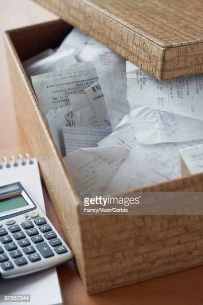 Receipts in a box