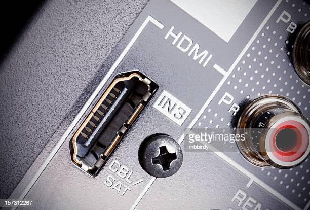 HDMI AV receiver's connectors