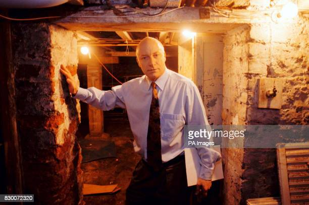 Recent file of Research leader Professor Denis Henshaw in the cellar of his Bristol home where he conducted his radon experiments Dr Henshaw is...
