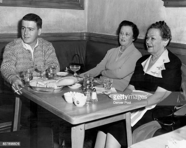 Recent luncheon threesome at the popular tavern room at Broadmoor Hotel were Mrs Sumner Lloyd and her son Sumner with Miss Elanore Van Vechten of...