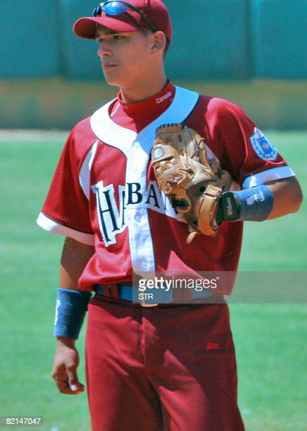 Recent picture of Cuban shortstop baseball player Jose Antonio Iglesias who deserted from the Cuban Junior Team earlier this week in Edmonton Canada...