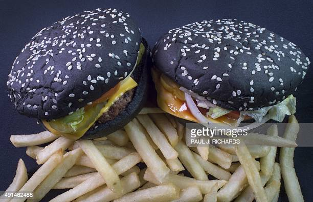 Recently released Burger King Halloween Whoppers are seen on October 5 in Centreville Virginia The burger inspired by the Black Burger in Japan is...