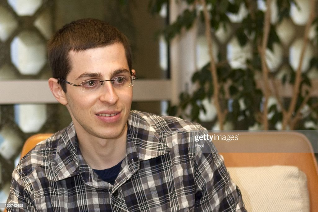 Recently-freed Israeli soldier <a gi-track='captionPersonalityLinkClicked' href=/galleries/search?phrase=Gilad+Shalit&family=editorial&specificpeople=537101 ng-click='$event.stopPropagation()'>Gilad Shalit</a> meets with French Ambassador to Israel Christophe Bigot (unseen) at the French embassy January 11, 2012 in Tel Aviv, Israel. During the meeting, <a gi-track='captionPersonalityLinkClicked' href=/galleries/search?phrase=Gilad+Shalit&family=editorial&specificpeople=537101 ng-click='$event.stopPropagation()'>Gilad Shalit</a> gave the ambassador a letter addressed to French President, Nicolas Sarkozy in which Shalit thanked Sarkozy for his efforts to being about his release.