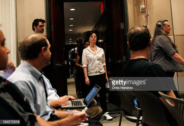 Recentlyreleased hiker Sarah Shourd enters a press conference September 19 2010 in New York City Shourd gave a statement entreating the Iranian...