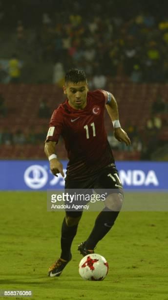 Recep Gul of Turkey U17 in action during the FIFA U17 World Cup India 2017 football match between Turkey U17 and New Zealand U17 in Mumbai India on...