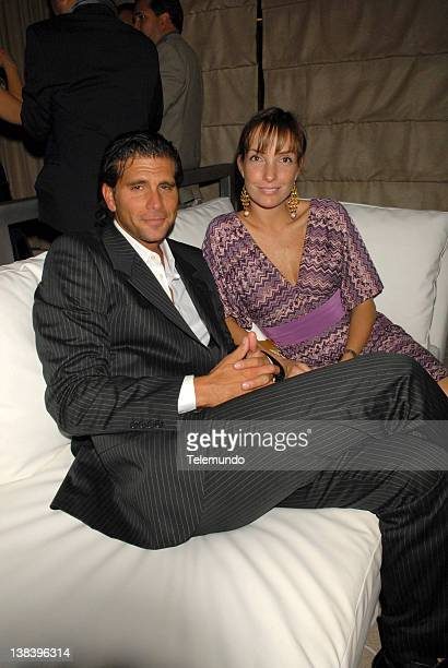 MAY 2007 'Reception' Pictured Christian Meier and Marisol Meier during the Telemundo Upfront 2007 Reception on May 15 2007