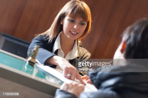 Receptionist and Hotel Check In