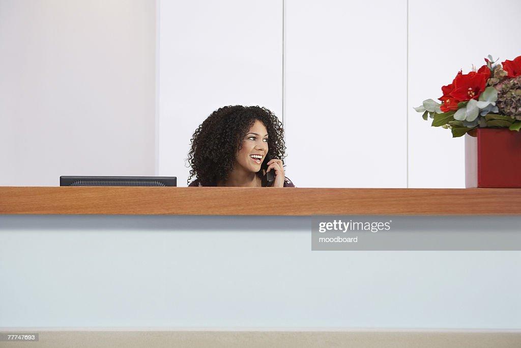 Receptionist on Telephone